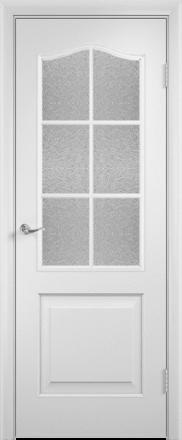 Laminuota durų varčia Palitra su stiklu