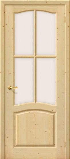 Pušinės durys MEČTA PO su stiklu