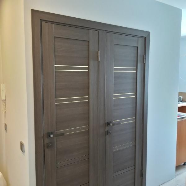 durys porta 28 spalva gray