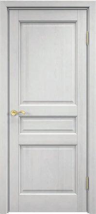 Pušinės durys M5 baltas vaškas