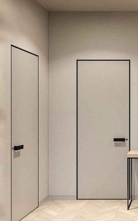 Nematomos durys su aliuminio briaunomis