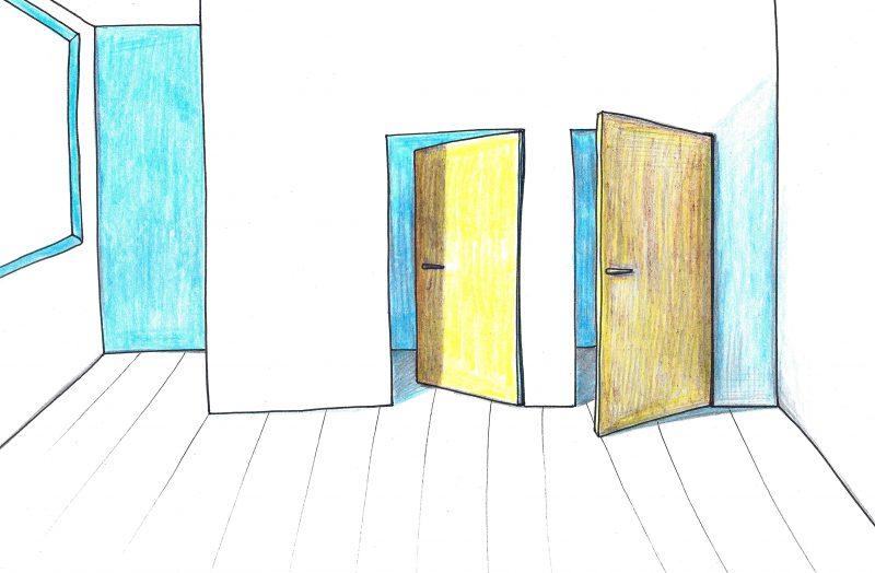 Atvirkščiai atidaromų durų pranašumai ir trūkumai