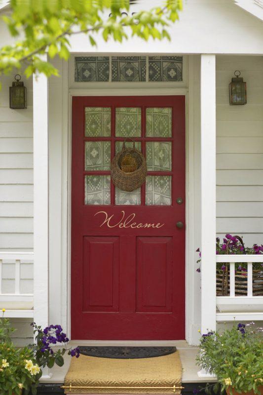raudonos durys