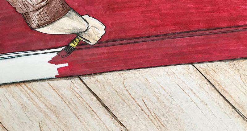 grindjuosčių dažymo technologija