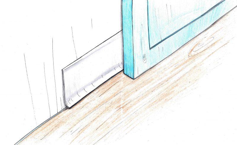 Kokias grindjuostes tvirtinti prie įstatytų nematomų durų be apvadų?