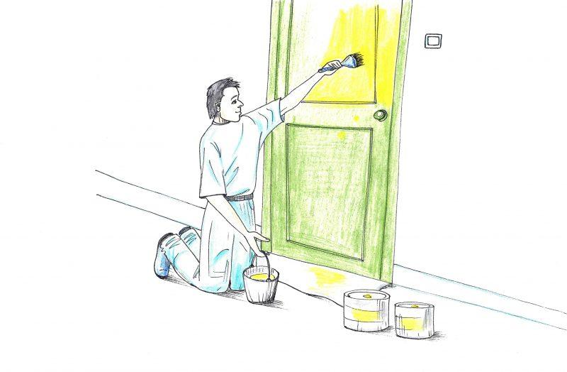 Ar galima savarankiškai perdažyti duris?