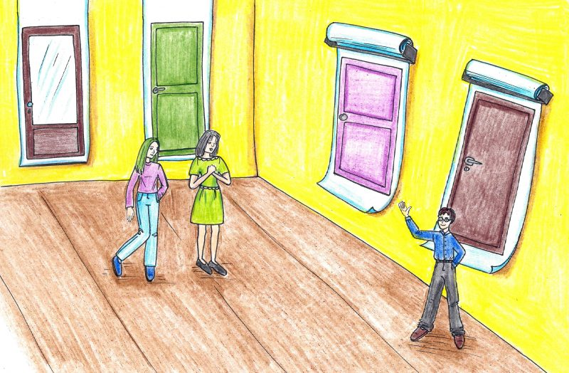Ar būna popierinių durų?