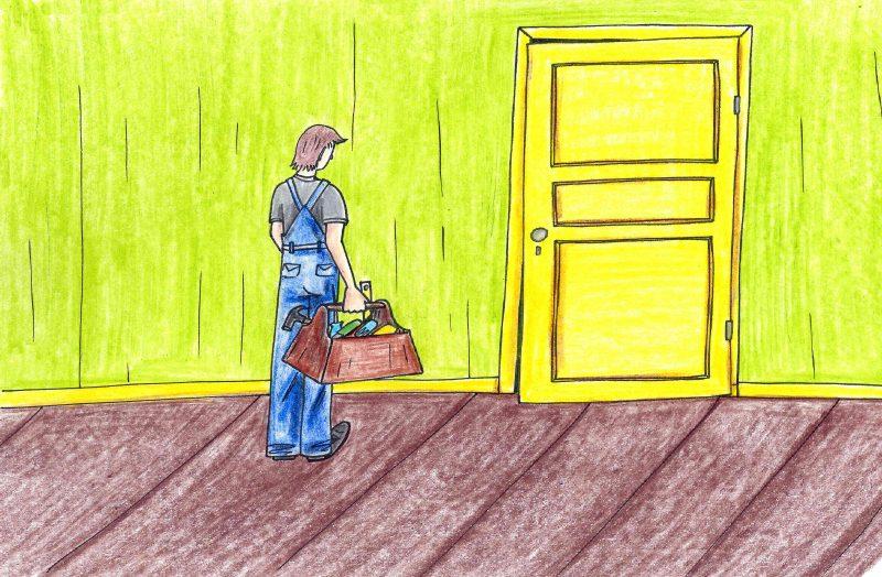 Nusėdusių durų remontas