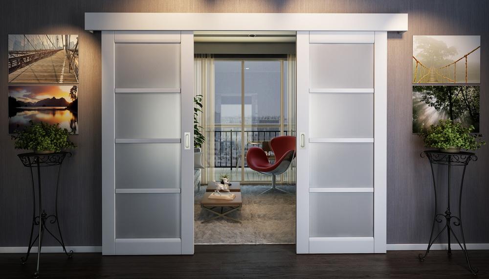 baltos durys interjere