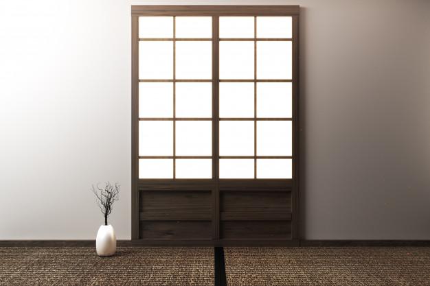 Japoniškos durys iš ryžių popieriaus