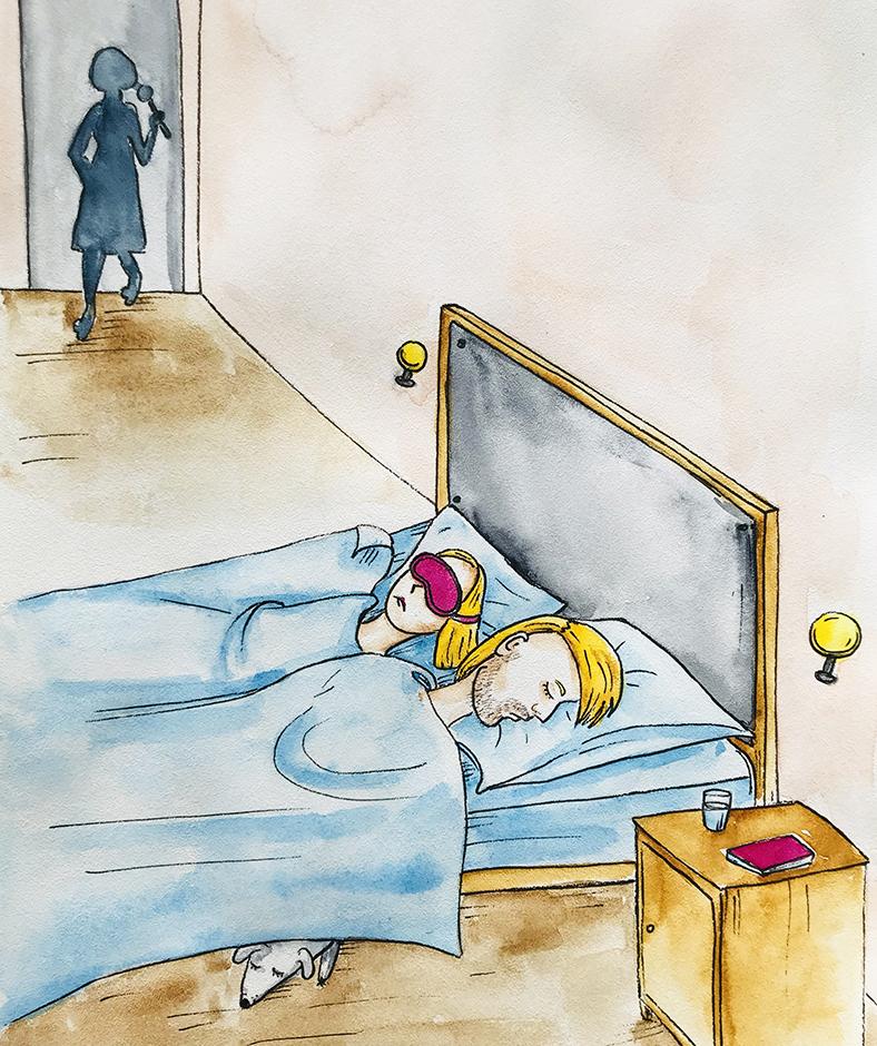 ji atsidūrė ant jų miegamojo slenksčio