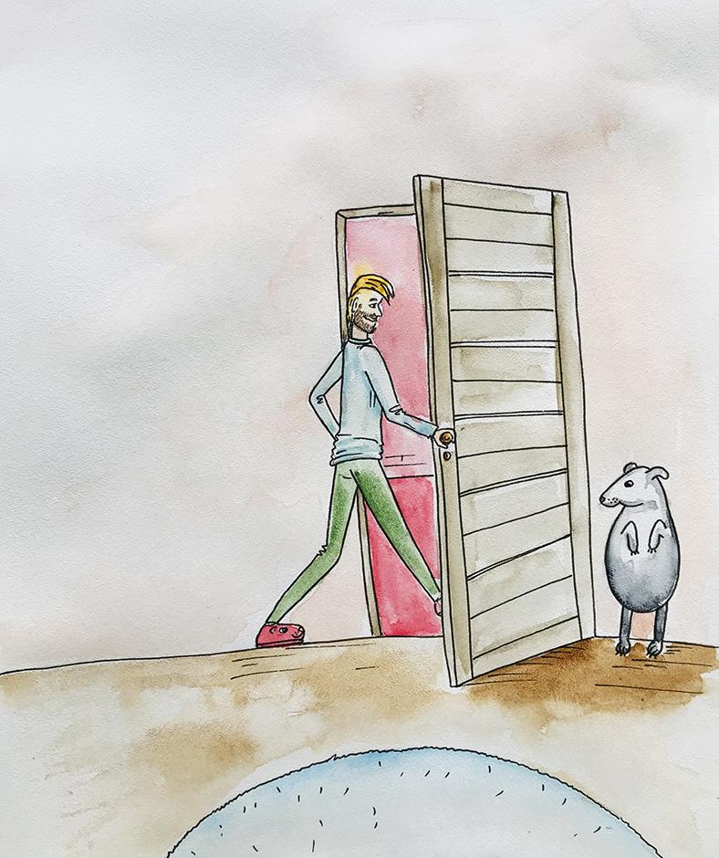 naujos durys buvo savo vietoje