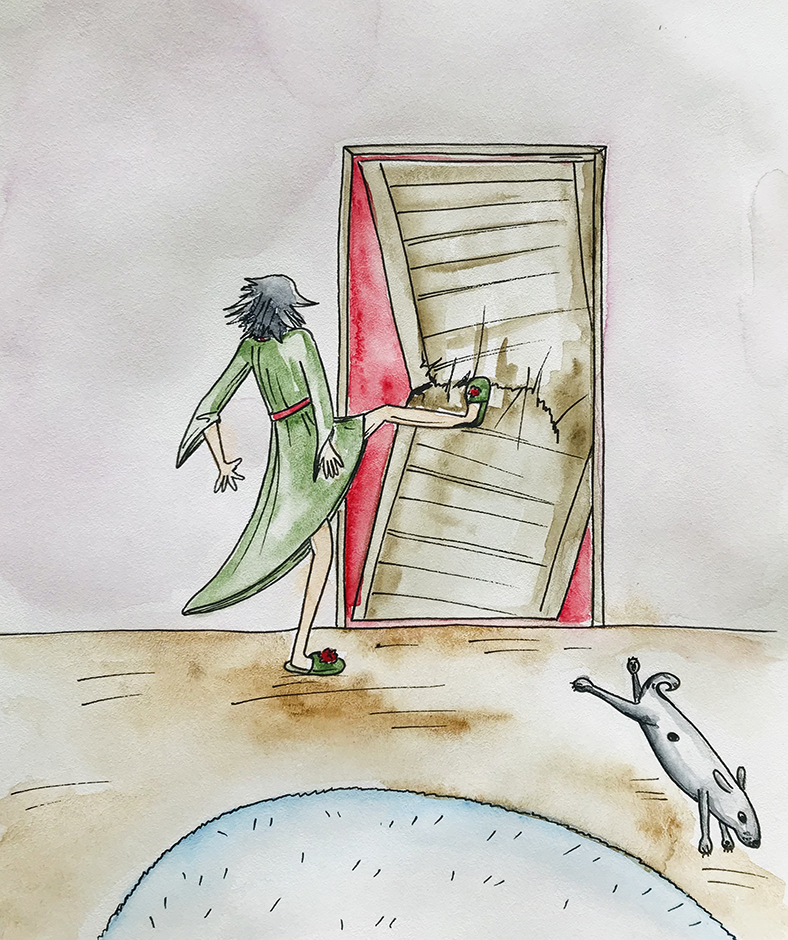 Uošvė įsibėgėjo ir visa jėga trenkė koja į duris