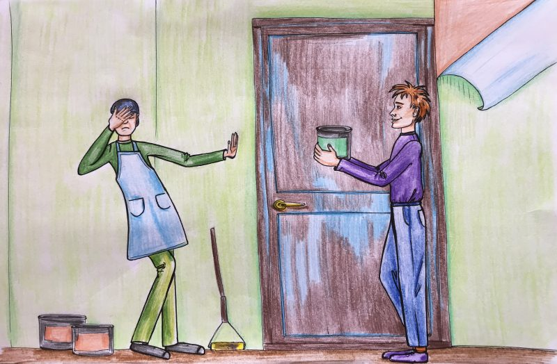 Kuo dažyti nematomas duris